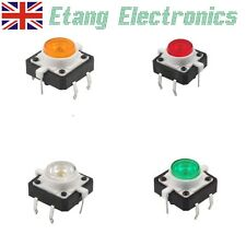 Tattile Push Button switch-momentary-with LED 12x12x7.0 4-pin DIP FORO PASSANTE