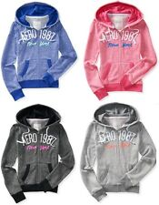 NWT Aeropostale Womens Aero 1987 NY Full-Zip Soft Feel Hoodie