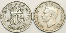 1947 to 1951 George VI Cupro-Nickel Sixpence Your Choice of Date
