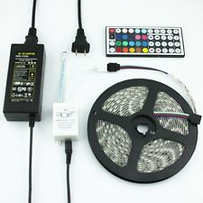 SMD 5050 RGB 5M Flexible LED Strip 24 / 44 Key IR RF DC 12V 5A Power Adapter
