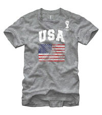 FIFA 2014 World Cup Brasil Soccer Football Youth T-Shirt - Team USA - Grey