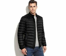 Tommy Hilfiger Men's Quilted Packable Down Puffer M L Black / Navy Jacket