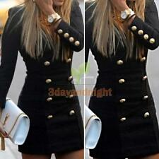 Fashion Women Long Sleeve Casual Bodycon Party Evening Cocktail Mini Dress NIGH
