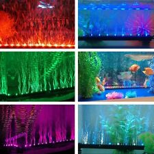Hot Aquarium Fish Tank Beaming Underwater Submersible Air Bubble Safe LED Lights