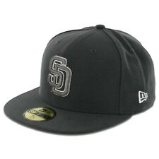 San Diego PADRES GP GP WH Graphite Gray White New Era 59Fifty Fitted Hats Caps