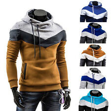 Nice Lavish Winter Patchwork Hooded fit Thick fleece sweater men's clothing Pop