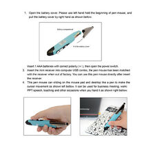 New 2.4GHz Wireless Optical Pen Mouse Laser PPT Pointer For PC Android R1BO