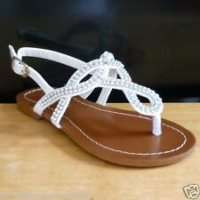 White Gladiator Dress Beach Sandal Shoes Baby & Toddler Size 10