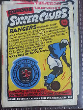 FOOTBALL  Anglo Bell  Boy wax wrapper trade card - FAMOUS SOCCER CLUBS selection