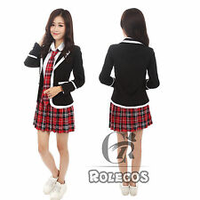 Girls Cosplay Kostüm School Student Schulmädchen Uniform Sailor Dress WSJ160