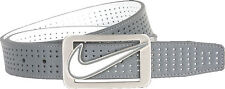 Nike Square Perforated Reversible Grey/White Belt Mens 11205156 New