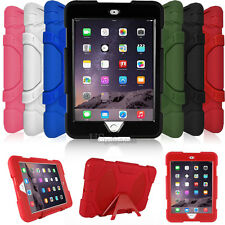 Kids 3 Layers Shockproof High Impact Rugged Cover Case For Apple iPad Mini 1/2/3