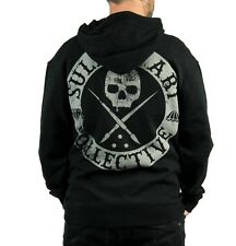 AUTHENTIC SULLEN BADGE OF HONOR ZIP UP HOODIE TATTOO SKULL ART SCENE M-3XL