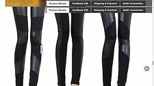 Black Stretchy Faux Leather Leggings THESE ARE NOT BEBE -  USA SELLER 2DAY SHIP