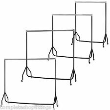 NEW HEAVY DUTY CHROME TOP BLACK CLOTHES,GARMENT RAILS WITH  3ft 4ft 5ft 6ft
