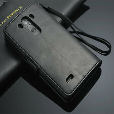 Genuine Real Leather Photo Flip Wallet stand Case Cover For LG Optimus G3 D855