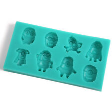 3D Silicone Rose+Baby+Minions Cake Mould Sugar Craft Decorating Fondant
