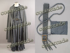 The Lord of the Rings Gandalf the Gray/Grey Cosplay Costume Cape Cloak Robe Belt