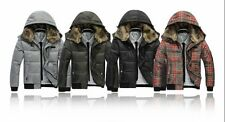 Men's winter Down Parka fur collar Hoodies overcoat cotton-padded jackets coats