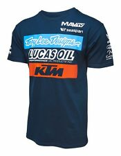 NEW TROY LEE DESIGNS TLD KTM LUCAS OIL TEAM MEN'S TEE T-SHIRT NAVY ALL SIZES
