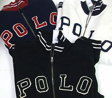 Polo Ralph Lauren $165-185 HERITAGE Fleece Baseball Varsity Track Jacket #67 NWT