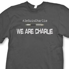 WE ARE CHARLIE Support Freedom Speech French T-shirt Paris Tee Shirt