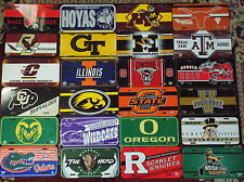 NCAA College Univ. license plate by Wincraft vintage plastic officially licensed