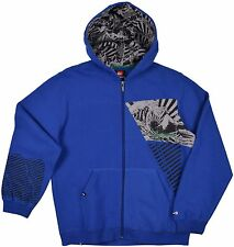 Quiksilver Big Boys (8-20) Attitude Zip Up Hoodie-Royal Blue