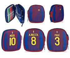 F.C. BARCELONA -  FILLED PENCIL CASE - inc 34 Pieces (School)(Official Football)