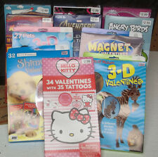 Mix & Match Valentines cards - Angry Birds, Disney, Madagascar 3, and many more