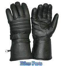 Leather Waterproof Windproof Motorcycle Motorbike Scooter Gloves Winter Ski warm