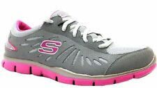 "New! Women's Skechers Gratis- ""Messenger"" Sporty Casual Sneaker Shoes Grey/Pink"