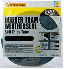 Thermwell Black Foam Weather-Strip Tape, Various Sizes