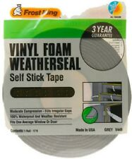 Thermwell Grey Foam Weather-Strip Tape, Various Sizes