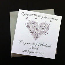 Handmade Personalised Wedding Anniversary Card Husband Wife Son/ Daughter in Law