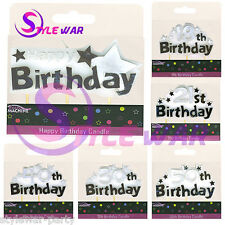 NEW 18th 21st 50TH 30TH SHAPED CANDLE FOR BIRTHDAY BANNER CANDLES PARTY SUPPLIES