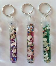 Glitter Key Chain Wands w/ Moon & Stars Confetti and Sea Shells ~Awesome Gifts!