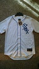 Majestic Cooperstown Collection - Chicago White Sox Throwback White/Blue Jersey