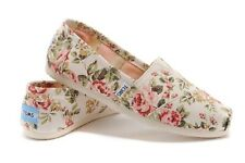 Authentic TOMS Shabby Chic/Grey Pink Floral/FADED TROPICAL Women's Classics Shoe