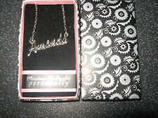 New with Box - Ladies Girls Personalised Fashion Necklace - Various Names A to H