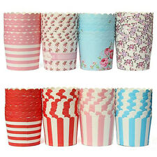50pcs Paper Cake Cup Liners Baking Cup Muffin Kitchen Cupcake Party Greaseproof