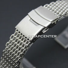 New 18 mm Mesh Stainless steel Shark Bracelet Watch Band Strap Replacement Parts