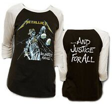 AUTHENTIC METALLICA JUSTICE FOR ALL ROCK MUSIC RAGLAN ADULT MENS SHIRT S-XL