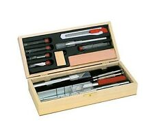 Deluxe Knife / Tool Set Wood Case Scale Model Excel Hobby Tools #44286