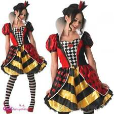 LADIES SEXY QUEEN OF HEARTS WONDERLAND BOOK DAY CHARACTER FANCY DRESS COSTUME