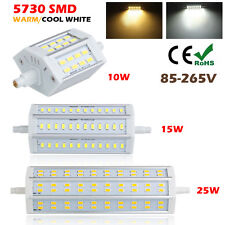 R7S 78mm 118mm 189mm 10W 15W 25W 5730 SMD LED Lámpara Bombillas Light AC85-265V
