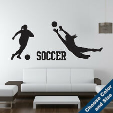 Soccer Girl Players Wall Decal Set