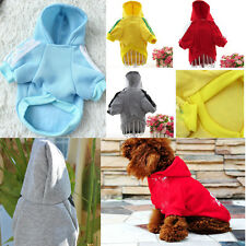 Small Dog Puppy Clothes Hoodie Sweater Costumes Coat Jacket Soft Cotton xs-xxl