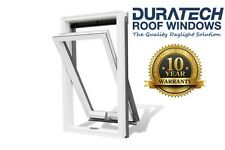 Velux/Duratech Centre Pivot Roof Window 780 x 980mm White uPVC with Flashing