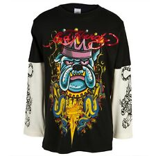 Ed Hardy - Crowned Bulldog Youth Boys 2fer Long Sleeve Shirt